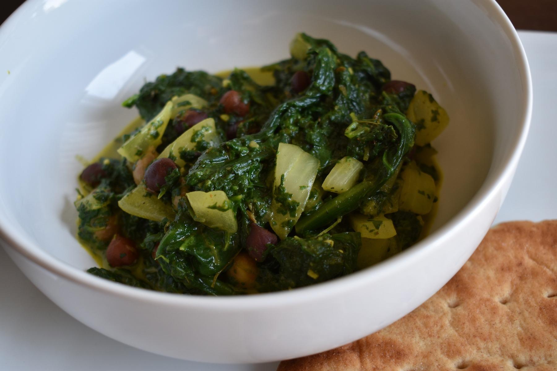 Bowl of chana palak