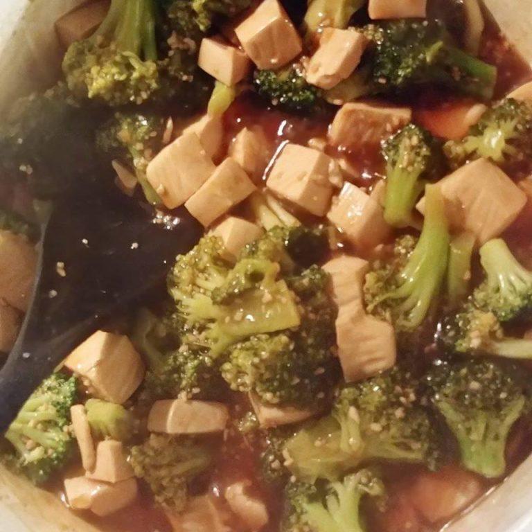 Chinese style broccoli tofu