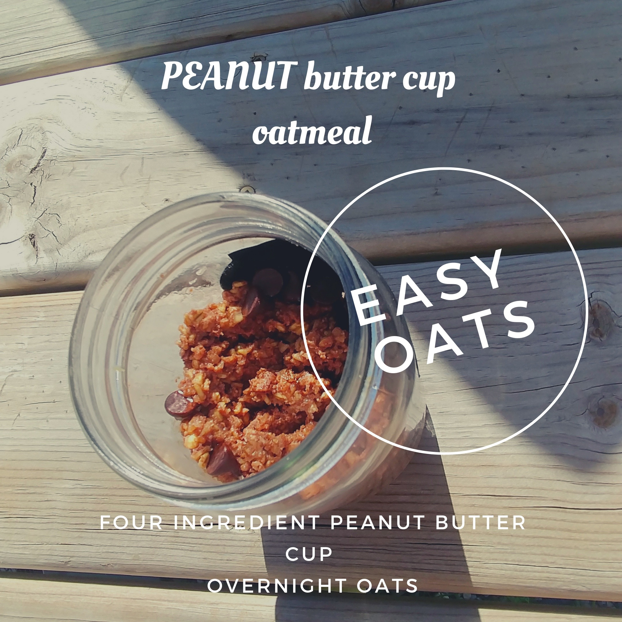 Peanut Butter Cup Overnight Oatmeal