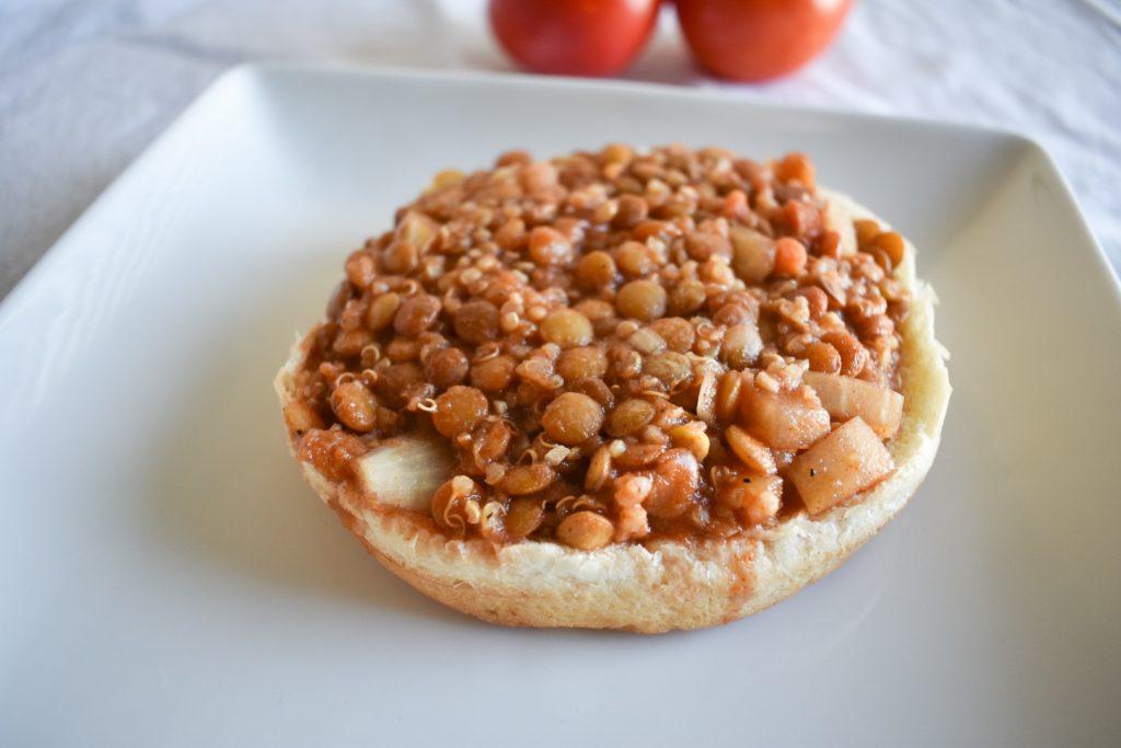 Vegan Lentil Quinoa Sloppy Joes