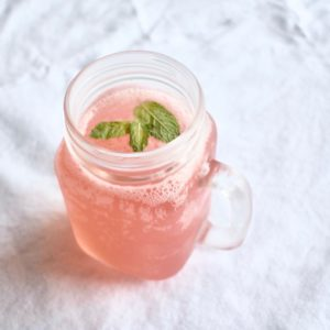 Sparkling Watermelon Agua Fresca with Lime and Mint