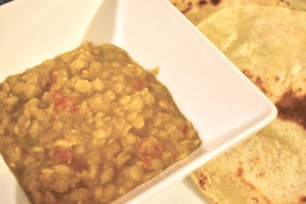 Closeup of Instant Pot Indian Dal Tadka